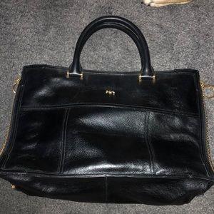 Lauren by Ralph Lauren black leather bag